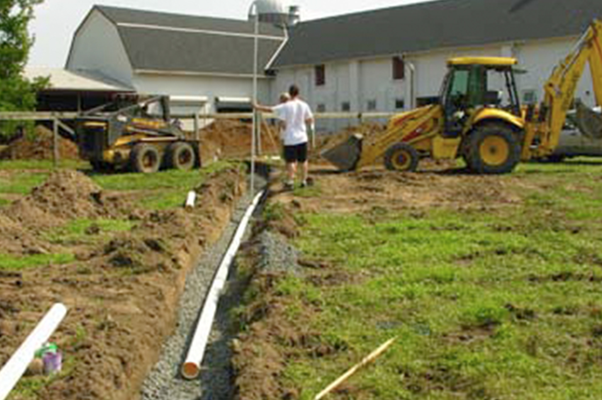 Ryders lane farm equine science center for Waste drainage system